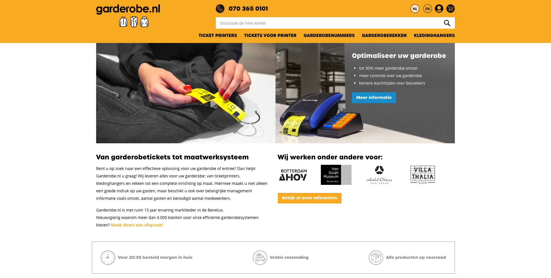 Webshop Garderobe.nl